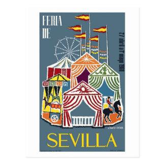 Carte Postale Affiche 1960 de festival de l'Espagne Séville