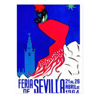 Carte Postale Affiche 1964 juste de l'Espagne Séville avril