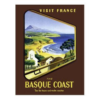 Carte Postale Affiche Basque de voyage de côte