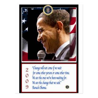 Carte Postale Affiche de Barack Obama