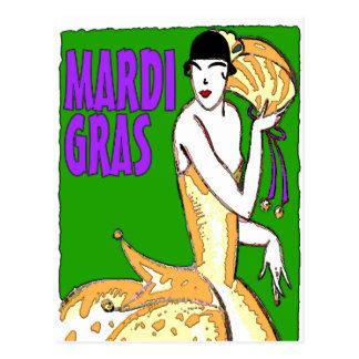 Carte Postale Affiche de mardi gras