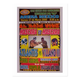 Carte Postale Affiche de match de Lucha Libre