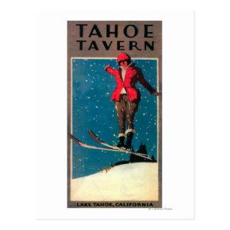 Carte Postale Affiche de promo de taverne de Tahoe