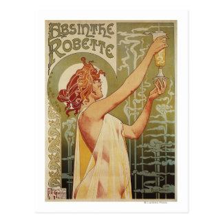 Carte Postale Affiche de publicité d'absinthe de Robette
