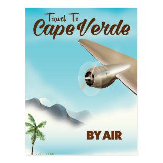 Carte Postale Affiche de transports aériens du Cap Vert