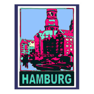 Carte Postale Affiche de voyage de Hambourg