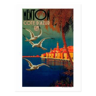 Carte Postale Affiche de voyage de la Côte d'Azur # 1