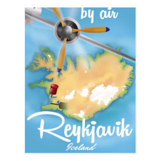 Carte Postale Affiche de voyage de vacances de Reykjavik,