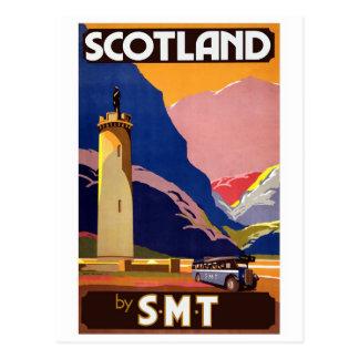"""Carte Postale """"Affiche de voyage de Vintage Scotland Bus Company"""