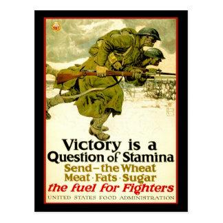 Carte Postale Affiche de WWI au sujet des approvisionnements