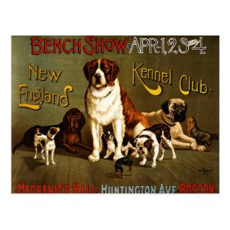 Carte Postale Affiche d'exposition du club c.1890 de chenil de