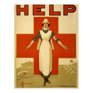 Carte Postale Affiche d'original de Nursen de Croix-Rouge de WWI