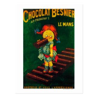 Carte Postale Affiche promotionnelle de chocolat de Besnier