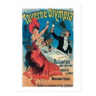 Carte Postale Affiche promotionnelle d'Olympia de Taverne