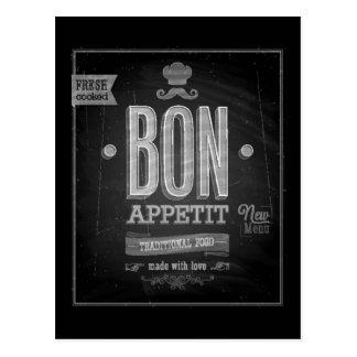 Carte Postale Affiche vintage d'Appetit de fève - tableau