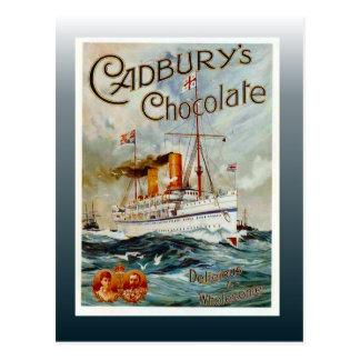 Carte Postale Affiche vintage de chocolat, le chocolat de