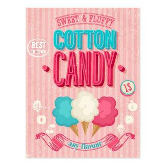 Carte Postale Affiche vintage de sucrerie de coton
