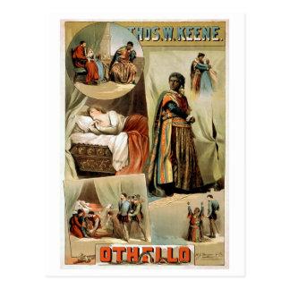 Carte Postale Affiche vintage de théâtre d'Othello