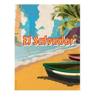 Carte Postale Affiche vintage de vacances du Salvador