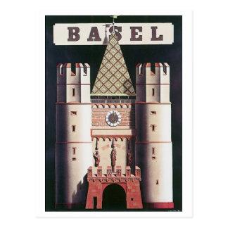 Carte Postale Affiche vintage de voyage de Bâle