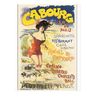 Carte Postale Affiche vintage de voyage de Cabourg