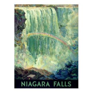 Carte Postale Affiche vintage de voyage de chutes du Niagara