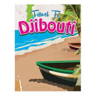 Carte Postale Affiche vintage de voyage de Djibouti