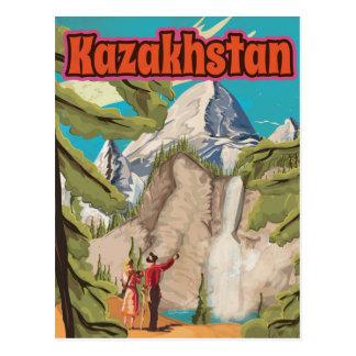 Carte Postale Affiche vintage de voyage de Kazakhstan