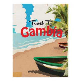 Carte Postale Affiche vintage de voyage de la Gambie