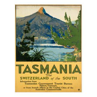 Carte Postale Affiche vintage de voyage de la Tasmanie Australie