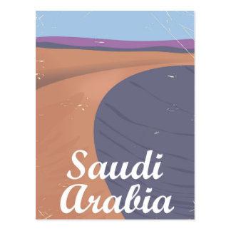 Carte Postale Affiche vintage de voyage de l'Arabie Saoudite