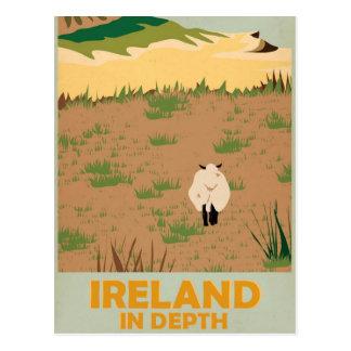 Carte Postale Affiche vintage de voyage de l'Irlande de visite