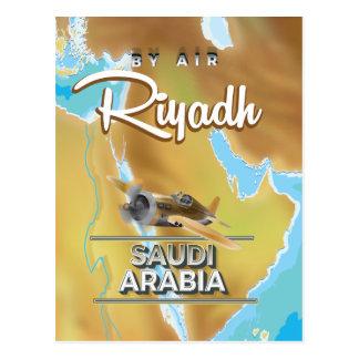 Carte Postale Affiche vintage de voyage de Riyadh Arabie