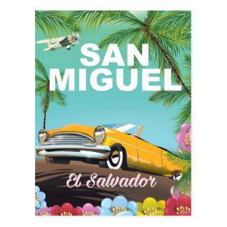 Carte Postale Affiche vintage de voyage de San Miguel Salvador