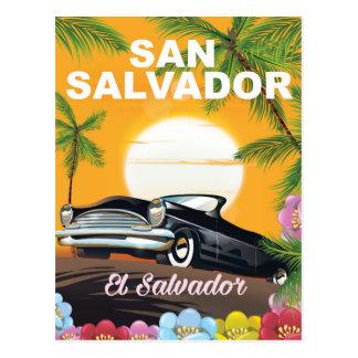 Carte Postale Affiche vintage de voyage de San Salvador