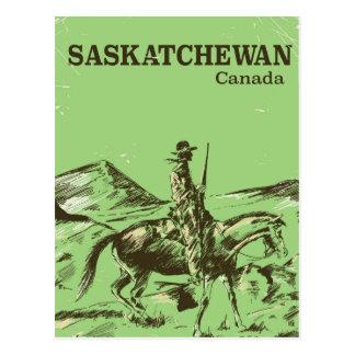 Carte Postale Affiche vintage de voyage de Saskatchewan Canada