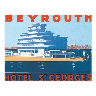 Carte Postale Affiche vintage de voyage de St Georges de