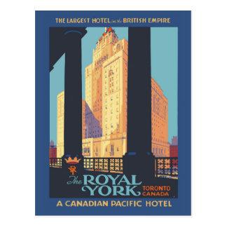 Carte Postale Affiche vintage de voyage de Toronto Canada