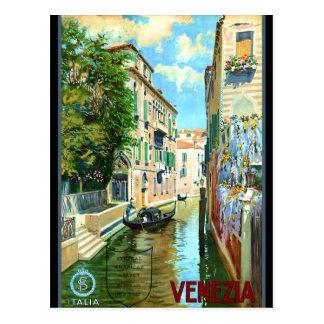 Carte Postale Affiche vintage de voyage de Venise