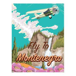 Carte Postale Affiche vintage de voyage de vol de Monténégro
