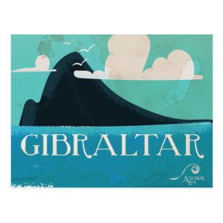 Carte Postale Affiche vintage de voyage du Gibraltar