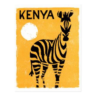 Carte Postale Affiche vintage de voyage du Kenya Afrique