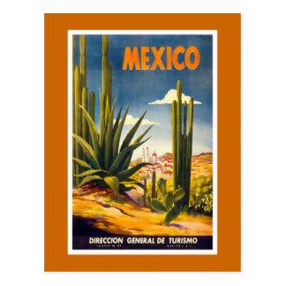 """Carte Postale Affiche vintage de voyage du """"Mexique"""""""