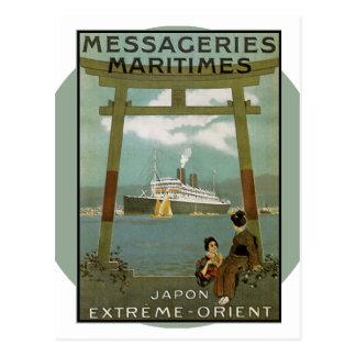 Carte Postale Affiche vintage de voyage - Japon