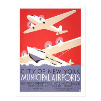 Carte Postale Affiche vintage de voyage, New York