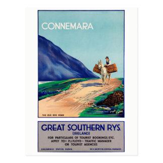Carte Postale Affiche vintage de voyage reconstituée par