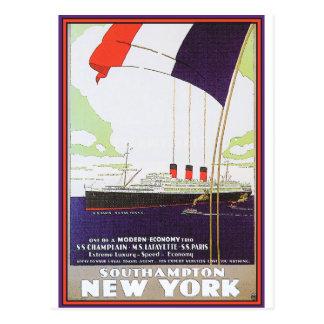 Carte Postale Affiche vintage de voyage : Southampton New York