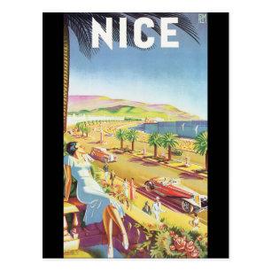 Carte Postale Affiche vintage gentille de voyage