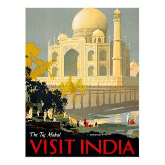 Carte Postale Affiche vintage Restor de voyage de l'Inde de