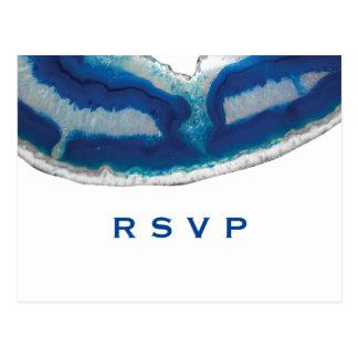 Carte Postale Agate bleue RSVP